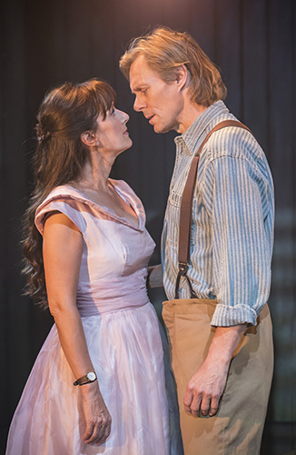 Jenna Russell and Edward Baker-Duly in The Bridges of Madison County - Credit Johan Persson