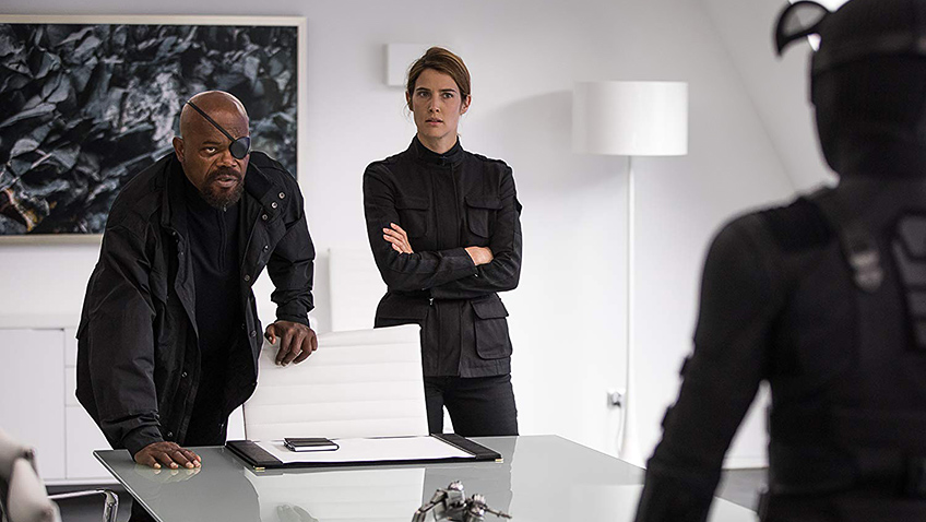 Samuel L. Jackson and Cobie Smulders in Spider-Man: Far from Home - Credit IMDB