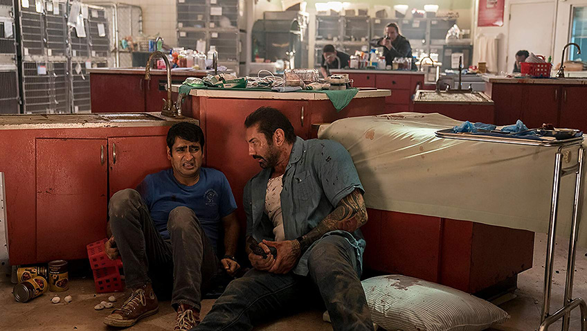Dave Bautista and Kumail Nanjiani in Stuber - Credit IMDB