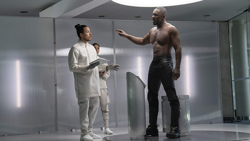 Idris Elba and Axel Nu in Fast & Furious: Hobbs & Shaw - Copyright Universal Pictures - Credit IMDB