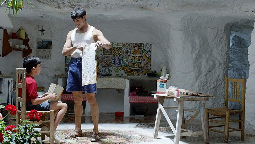 Asier Flores and César Vicente in Pain and Glory - Credit IMDB