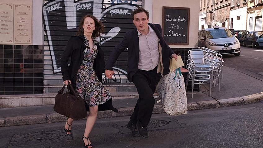 Paula Beer and Franz Rogowski in Transit - Copyright Christian Schulz - Credit IMDB
