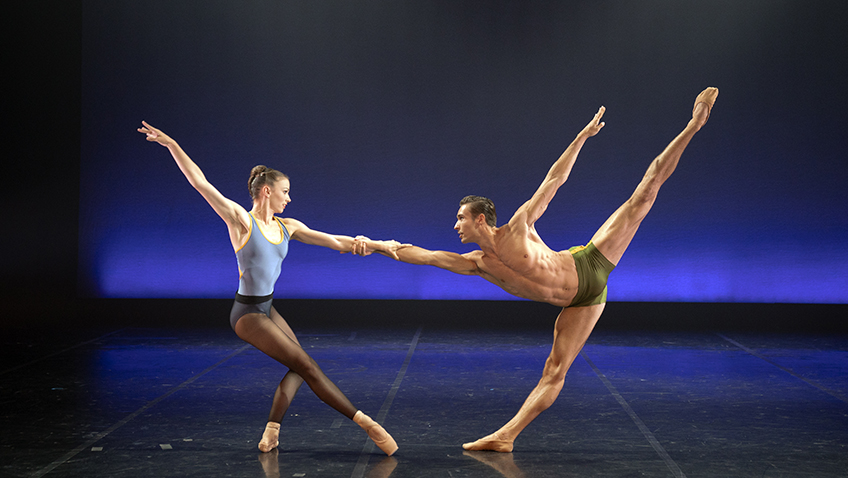 Abigail Prudames and Joseph Taylor in Powerhouse Rhumba - Credit Emma Kauldhar
