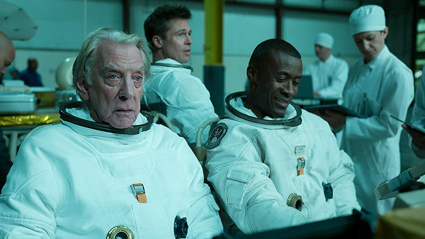 Brad Pitt, Donald Sutherland and Sean Blakemore in Ad Astra - Copyright Twentieth Century Fox - Credit IMDB