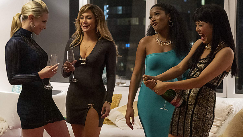 Jennifer Lopez, Keke Palmer, Constance Wu and Lili Reinhart in Hustlers - Copyright STXfilms - Copyright Motion Picture Artwork © 2019 STX Financing, LLC. All Rights Reserved. - Credit IMDB