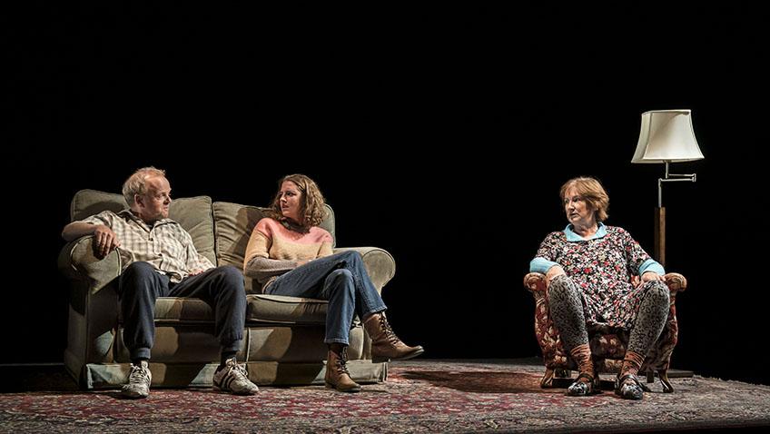 Toby Jones, Louisa Harland and Deborah Findlay in Imp - Credit Johan Persson