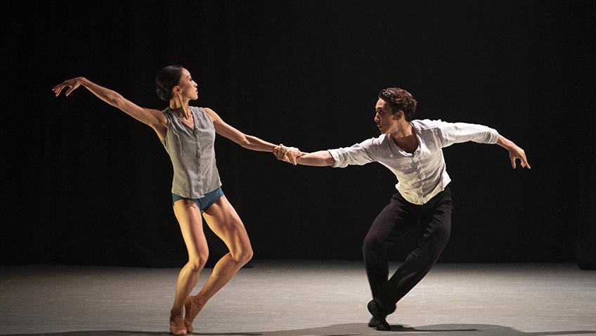 Minju Kang and Riku Ito in For an Instant - Credit Emma Kauldhar