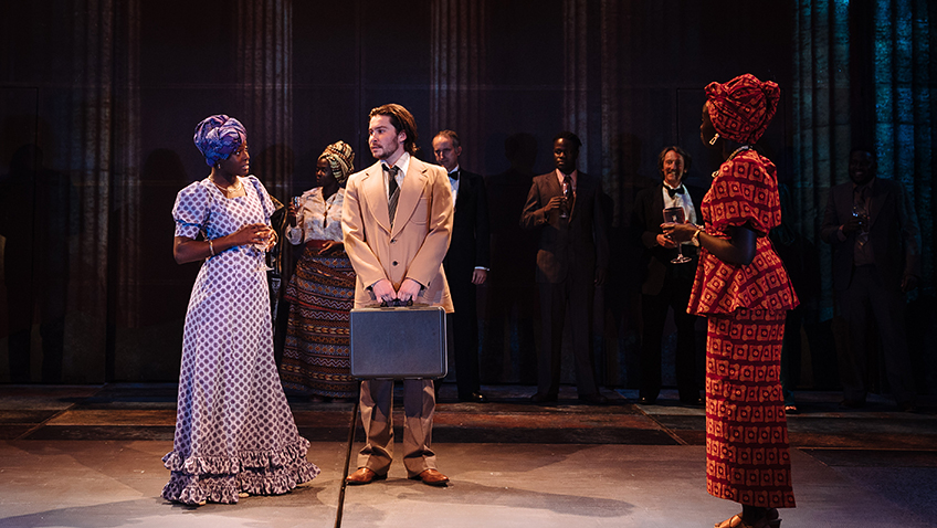 Joyce Omotola, Daniel Portman and Akuc Bol in The Last King of Scotland - Credit Helen Murray