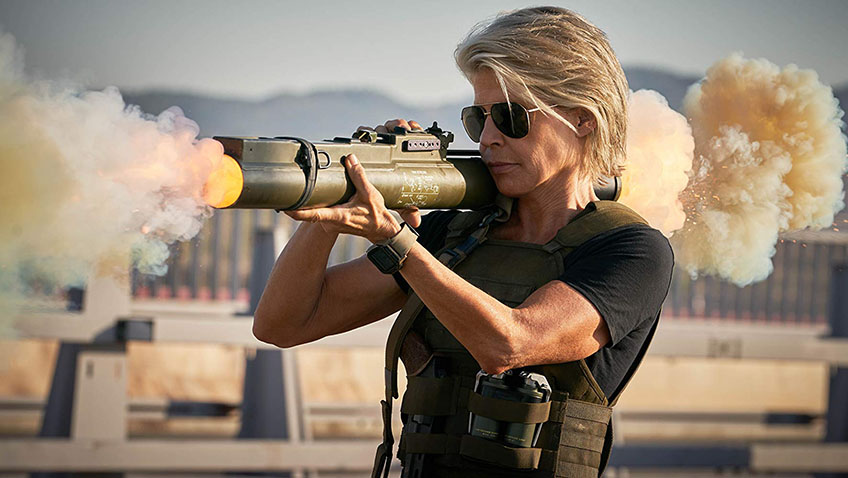 Linda Hamilton in Terminator: Dark Fate - Credit IMDB