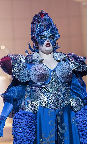 Claire Barnett Jones in The Mask of Orpheus - Copyright Alastair Muir