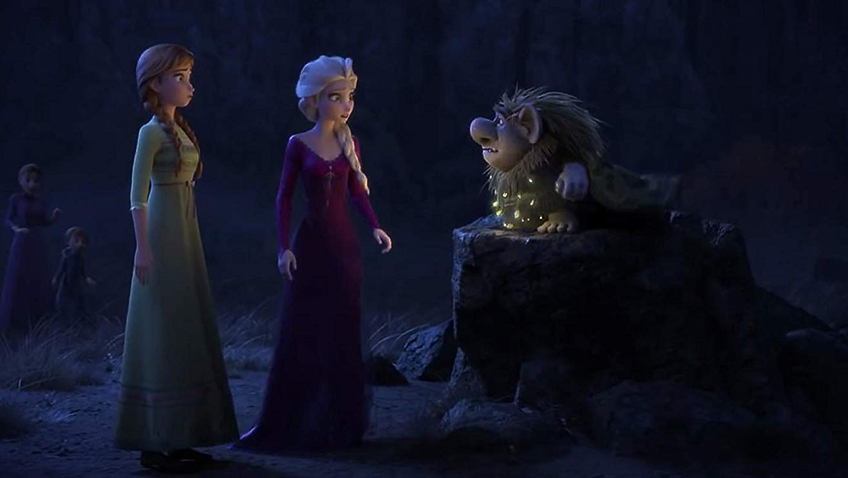 Ciarán Hinds, Kristen Bell and Idina Menzel in Frozen 2 - Credit IMDB