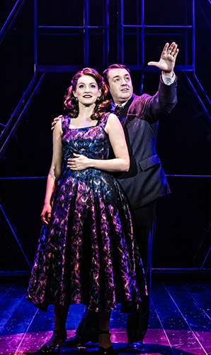 Leah Barbara-West and Jason Manford in Curtains - Credit Richard Davenport