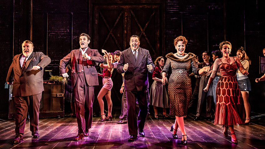 Rebecca Lock, Jason Manford and Company in Curtains - Credit Richard Davenport