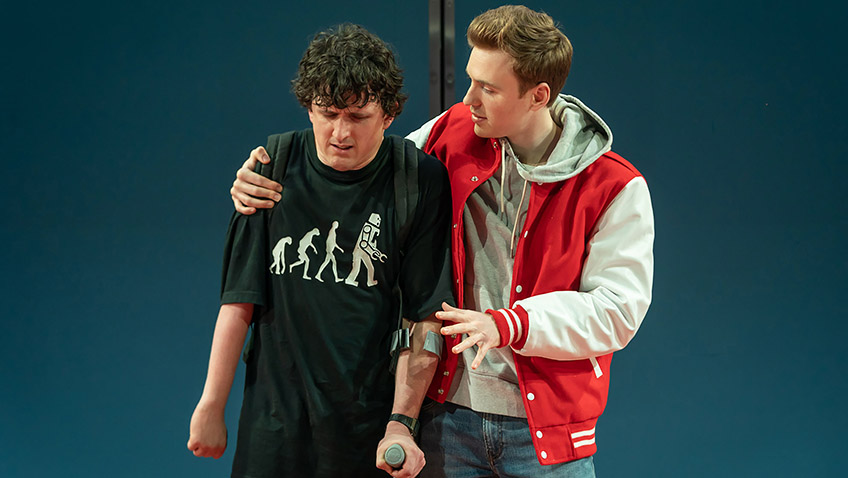 Daniel Monks and Callum Adams in Teenage Dick - Credit Marc Brenner