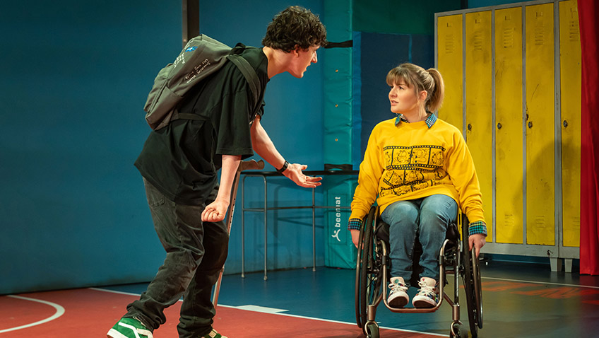 Daniel Monks and Ruth Madeley in Teenage Dick - Credit Marc Brenner