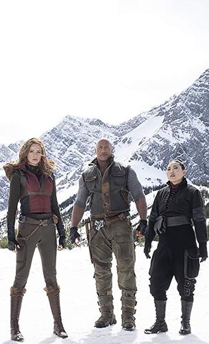 Dwayne Johnson, Karen Gillan and Awkwafina in Jumanji: The Next Level - Credit IMDB