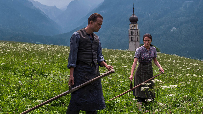 August Diehl and Valerie Pachner in A Hidden Life - Credit IMDB