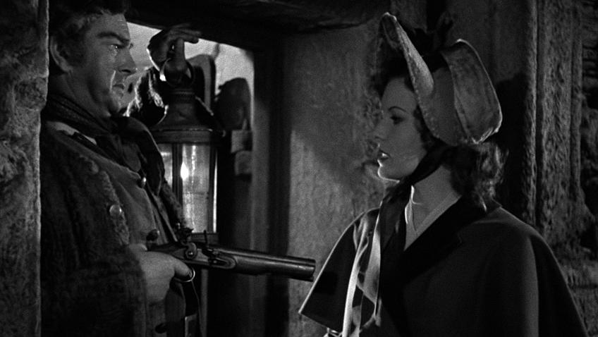 Maureen O'Hara and Charles Laughton in Jamaica Inn - Credit Sony Movies Classic