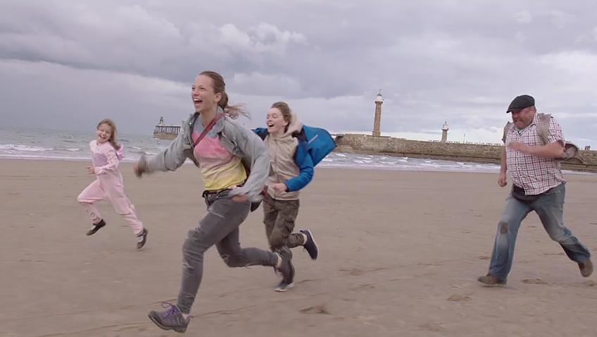 Molly Windsor, Mark Addy, Macy Shackleton and Rhys Connah in The Runaways - Credit IMDB