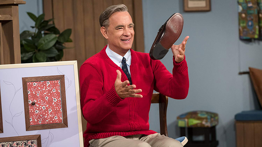 Tom Hanks' transformation into Fred Rogers is a creepy as his character