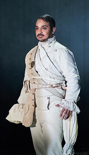 Danny Lee Wynter in Faustus: That Damned Woman - Credit Manuel Harlan
