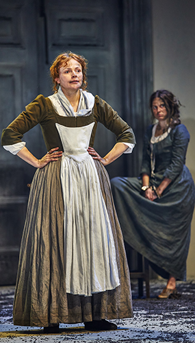 Maxine Peake and Ria Zmitrowicz in The Welkin - Credit Brinkhoff Moegenburg