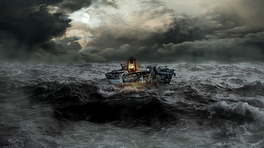 Boat in storm - Free for commercial use No attribution required - Credit Pixabay
