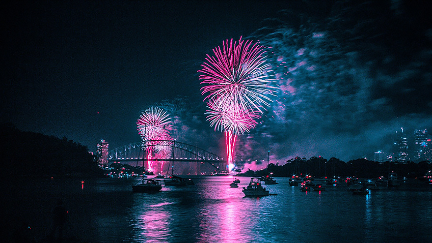 Fireworks - Sydney harbour - Free for commercial use No attribution required - Credit Pixabay