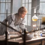 This Marie Curie biopic is distinguished by a thought provoking feminist and futuristic angle.